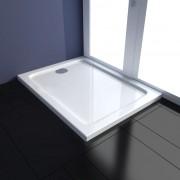 vidaXL Obdĺžniková ABS sprchová vanička, 70 x 90 cm