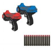 Emob Mini Twin 2 High Speed Soft Bullet Gun Toy with 14 Foam gun for Kids (Multicolor)