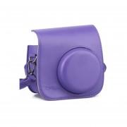 [Fujifilm Instax Mini 8 Case] - Protección Integral Instax Mini 8 Estuche De Cámara Bolsa Con PU Suave Material De Cuero MULBA M64 Purple