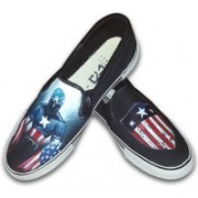 F-Gali The Captain America Slip-on Shoes Canvas Shoes For Women(Multicolor)