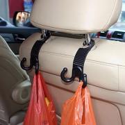 2 STKS Jonge Speler Klauw Vorm Duurzaam Autostoel Terug Haak Kofferbak Tas Hanger Houder Auto Hoofdsteun Bagage Haak (zwart)-