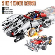 Innovative Brain Toys RC Construction Racer Kit For Kids - Build Your Own Racer Car Toy (2 Models) - 326 Pcs Engineering Building Stem Kit - Best Toy Gift For Boys and Girls Ages 6 And Up