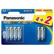 Baterie Panasonic Evolta LR6 (AA) 1.5V, 4+2buc/blister