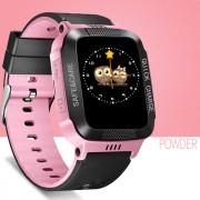 Y21 Children Smart Phone Watch Anti-lost Remote Control Touch Screen SOS Wrist Watch - Black / Pink