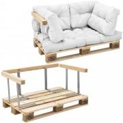 [en.casa]® Paletový interiérový nábytok - model C - biely