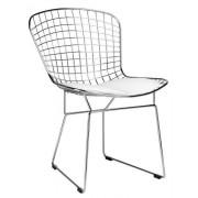 KH Krzesło Net Soft chrom. biała poduszka