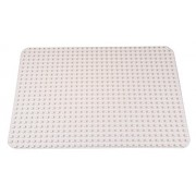 Classic Big Briks Baseplate by Strictly Bricks | Premium White Large 20 x 15 | 100% Compatible with All Major Large Brick Brands | for Children Ages 3+