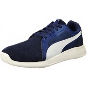 Puma Men's St Trainer Evo Sd Peacoat and Whisper White Sneakers - 6 UK/India (39 EU)