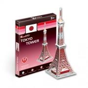 """Cubicfun Cubic Fun 3d Puzzle Model 22pcs Tokyo Tower 32.5cm/12.8"""""""