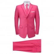 vidaXL Costume pour hommes avec cravate 2 pièces Rose Taille 48
