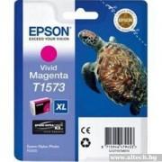 EPSON Vivid Magenta Inkjet Cartridge T1573 for Stylus Photo R3000 (C13T15734010)