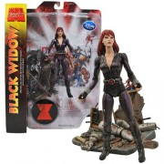 Diamond Select Toys Year 2011 Marvel Select Series Special Collector Edition 7 Inch Tall Action Figure Black Widow With Ant Man Minifigure And Highly Detailed Base