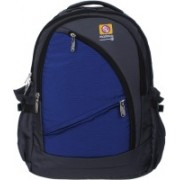 Marimco High Quality Tough Polyster 34L Casual School/college/Laptop/Travel 34 L Backpack(Grey, Blue)
