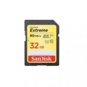 32GB SDHC, SanDisk Extreme, Class 10, скорост на четене до 90Mb/s, скорост на запис 40MB/s