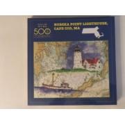 Nobska Point Lighthouse, Cape Cod, Ma: 500 Piece Jigsaw Puzzle