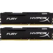 Memorie HyperX Fury Black 8GB Kit 2x4GB DDR4 2400MHz CL15