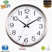 Ceas de perete cu camera video 1080P WiFi Android sau iPhone