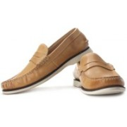 Clarks Quay Point Loafers For Men(Beige)