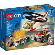 Lego set de construcción lego city actuación del helicóptero de bomberos 60248