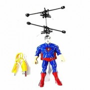 Avenger Flying Hero Superman Helicopter Toy USB Rechargeable