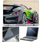Finearts Laptop Skin 15.6 Inch With Key Guard & Screen Protector - Side Card Color