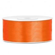 Geen 1x Hobby/decoratie oranje satijnen sierlint 2,5 cm/25 mm x 25 meter