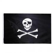 ELECTROPRIME Skull Crossbone Pattern Jolly Roger Racing Large Banner Party Flag