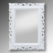 Classically framed mirror Bea, white