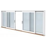 SP Fönster Skjutdörr C trä 5480x2490mm 3-glas härdat in och utsida (55x25)