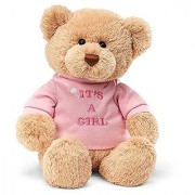 Enesco Its A Girl 7.5 Bear Plush