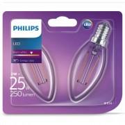 Philips LED Żarówki świeczki Classic, 2 szt., W, 250 lumenów