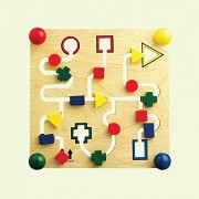 Shape Maze Board - Wooden Toys - Brainsmith - Early Learning - Logical Thinking - Imagination - Building blocks - Counting Skills - Brain Development - Birthday gift - Return Favour - Play and Learn - Child safe toys - 2 years and above