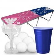 StudyShop Prosecco Pong Bord inkl. glas, muggar och bollar