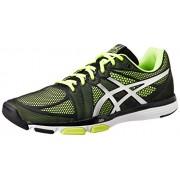 ASICS Men's Gel-Exert Tr Black, Silver and Flash Yellow Mesh Multisport Training Shoes - 7 UK