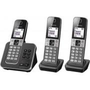 Panasonic KX-TGD323 - Trio DECT telefoon - Antwoordapparaat - Zwart