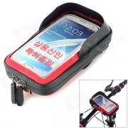 CBR Bicicleta manillar montado en pantalla tactil de la bolsa de telefono caso bolsa w / Glare Escudo - Negro + Rojo