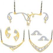 Sukkhi Exotic Gold Plated CZ Set of 3 Mangalsutra Set Combo For Women