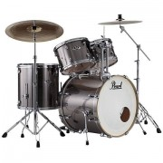 """Pearl """"Export 20"""""""" Smokey Chrome Complete Drumset"""""""