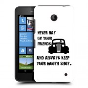 Husa Nokia Lumia 635 630 Silicon Gel Tpu Model Never Rat On Your Friends B&W