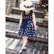 Vestido De Gasa Polca Punto Niña-azul