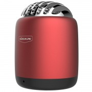 NILLKIN Metal Cavity Remote photography Bullet Mini Wireless Speaker with Mic - Red