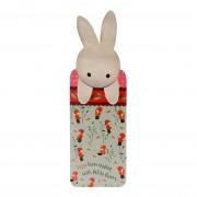 Könyvjelző - Poppi Loves - White Bunny