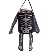 Sacosa material textil schelet Halloween - 18 x 15 cm, Radar 53003