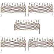 vidaXL Set de 5 garduri extensibile de salcie cu zăbrele 170 x 55 cm