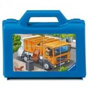 Дървен пъзел - Кубчета с превозни средства - Ravensburger, 7007406