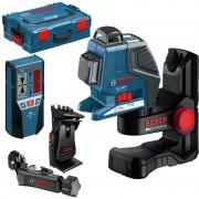 Nivela laser cu linii Bosch GLL 2-80 P + BM 1 + LR 2, L-Boxx