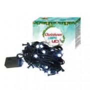 Instalatie de Craciun pentru brad lungime 10 m 100 becuri LED culoare alb 8 moduri de iluminare