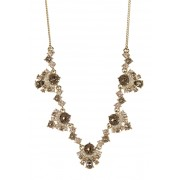 Givenchy Crystal Cluster Necklace GOLD