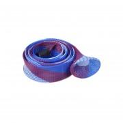 Pixnor 1.6 M * 4.5 Cm De La Manga Trenzada Extensible Wearproof De PET De Red A Prueba De Calor Flexible Ca?a De Pescar De La Manga (rojo Azul + Blanco + Luz)