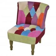 vidaXL foltvarrott dizájnú, karfa nélküli francia fotel